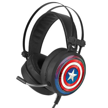 Gaming Headset USB 7.1-lj Captain America 001