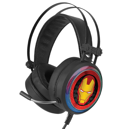 Gaming Headset USB 7.1-ljud Iron Man 001