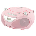 Boombox CD/Radio/MP3/USB Pink