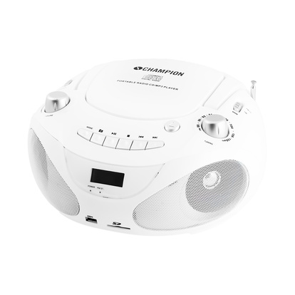 Boombox CD/Radio/MP3/USB White
