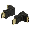 Vinklad HDMI-adapter Ha -> ho