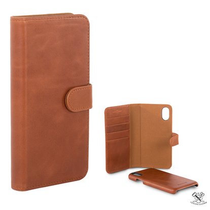 Wallet Läder iPhone XR Brun