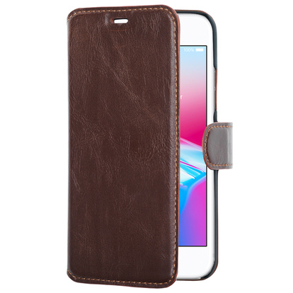 Slim Wallet Case iPhone 8/7 Brun