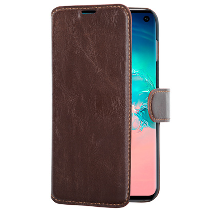 Slim Wallet Case Galaxy S10 Brun