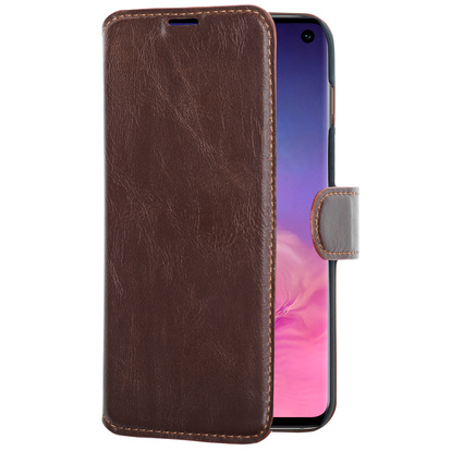 Slim Wallet Case Galaxy S10+ Brun