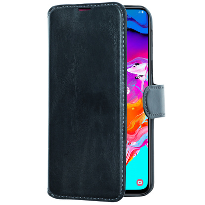 Slim Wallet Case Galaxy A70 Svart