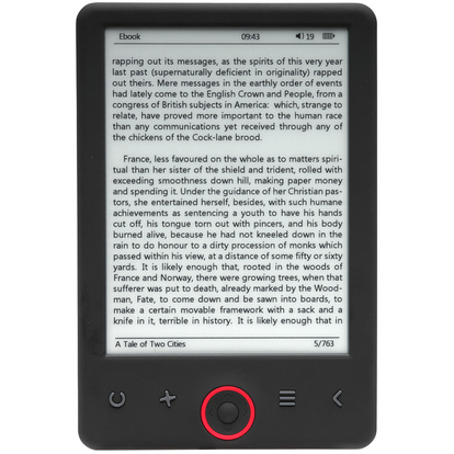 "6"" E-book Reader w. Light"