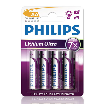 Ultra Lithium AA FR06 4-pack