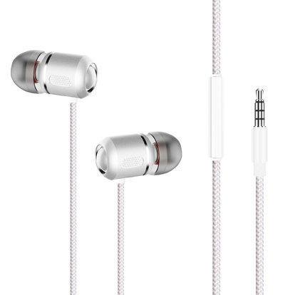 Headset In-Ear HSZ400 Vit Metallic