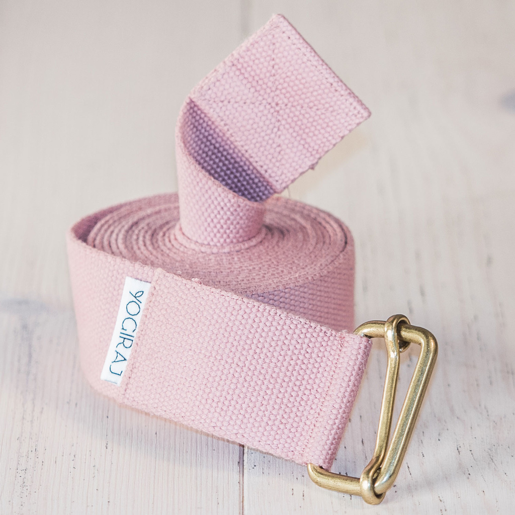 Yoga belt standard 244 cm Heather Pink