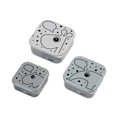 Snack Box 3 pcs Contour Grey