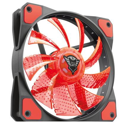 GXT 762W LED silent PC fan Red