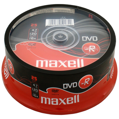 DVD-R 4.7GB 25-pack cakebox
