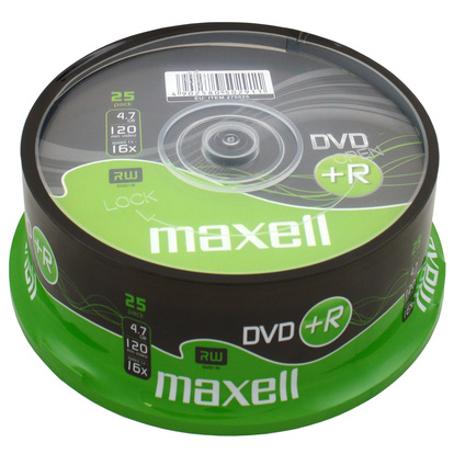 DVD+R 4.7GB 25-pack cakebox