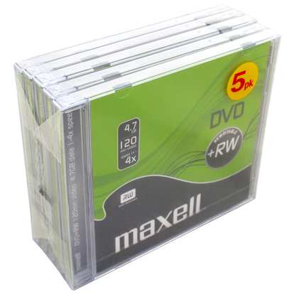 DVD+RW 4.7GB 5-pack JewelCase