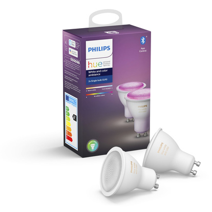 Hue White and Color GU10 2pack