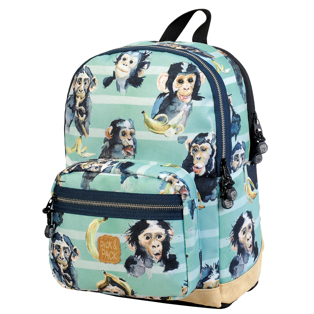 Backpack chimpanzee turqoise