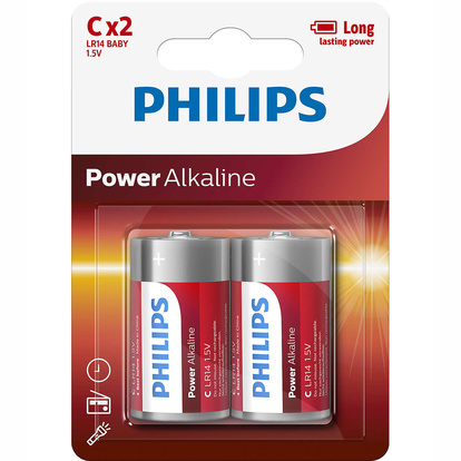 Power Alkaline C LR14  2-pack