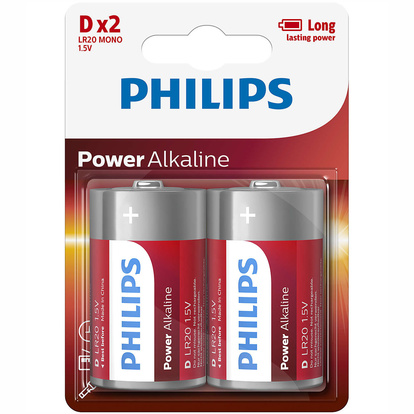 Power Alkaline D LR20  2-pack