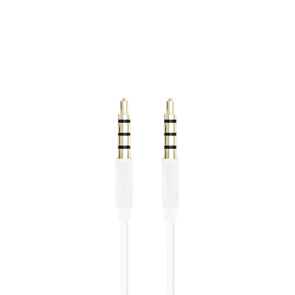 3,5mm Audiokabel 1m Vit