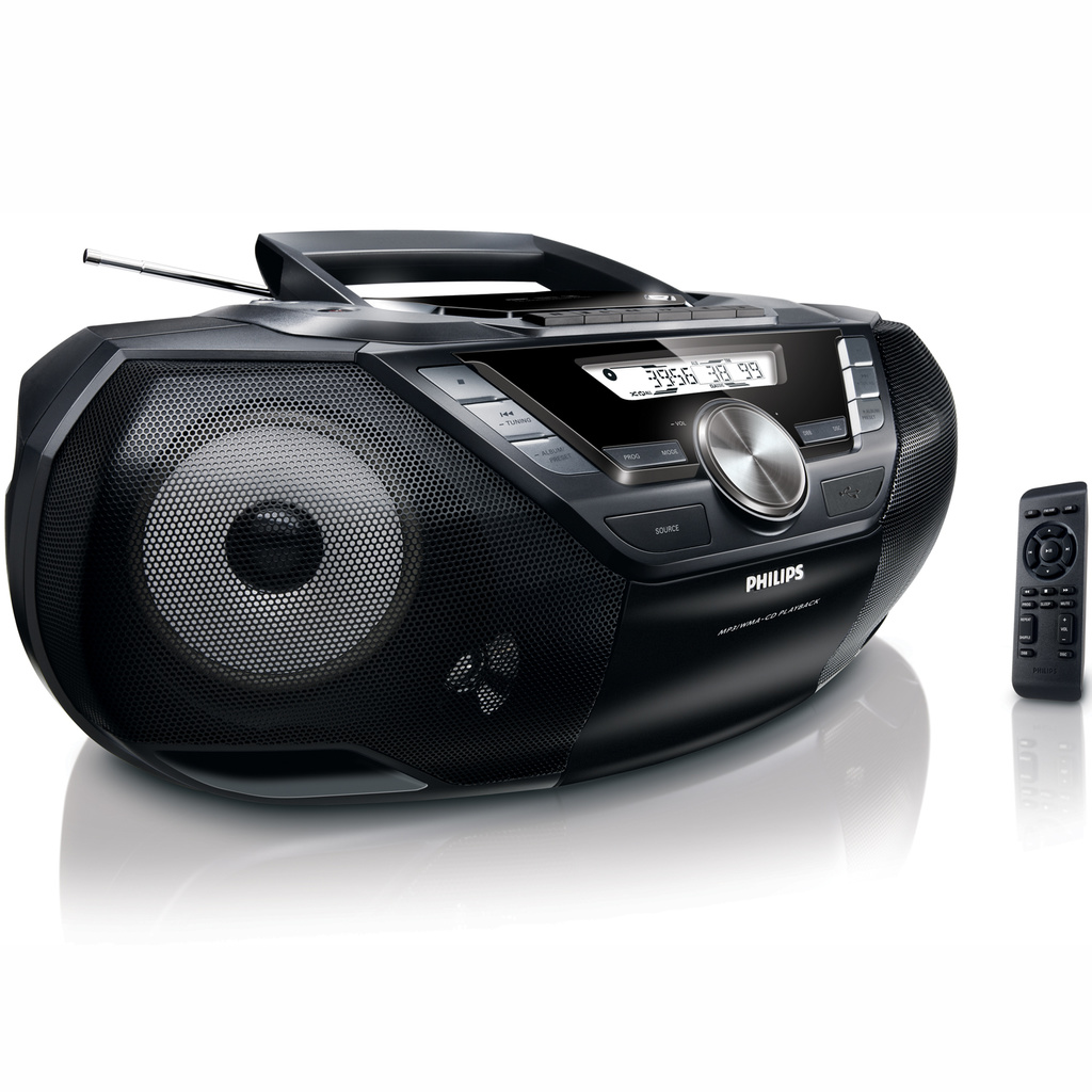 Boombox CD/Radio/USB/Kassett