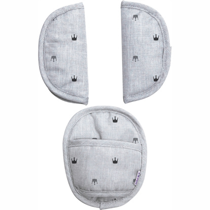 Universal Pads Grey Crowns