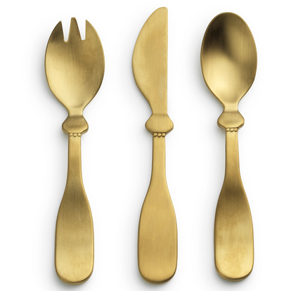 Children's Cutlery set - Matt gold/Brass