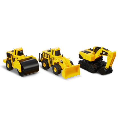 Metall 3-p Wheel loader+Steamroller+Excavator