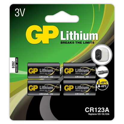 CR123A Lithiumbatteri 4-pack